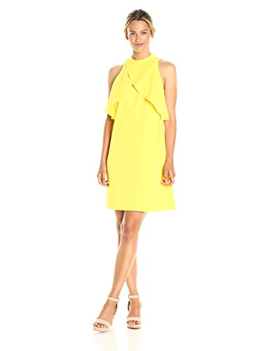 (CATHERINE CATHERINE MALANDRINO Women's Aldridge Dress, Buttercup, 4 )