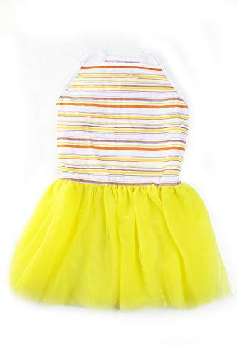 Midlee Colorful Stripe Tutu Large Dog Dress by -