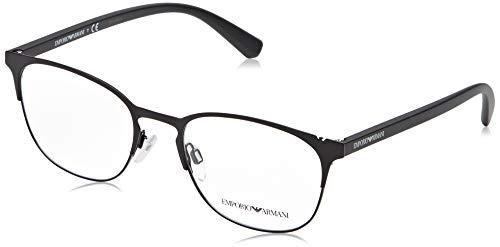 6946b6c62 Óculos de Grau Emporio Armani EA1059 3001 Preto Fosco Lentes Tam 53