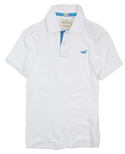 Hollister Men's Polo Shirt T Shirt (L, White 188)