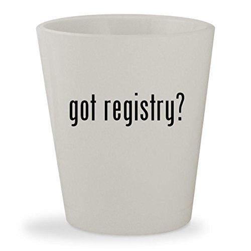 got registry? - White Ceramic 1.5oz Shot Glass
