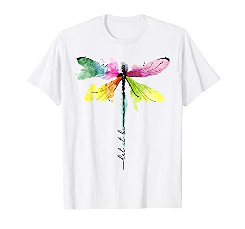 let it be, let it be dragonfly shirt, hippie be t-shirt ()
