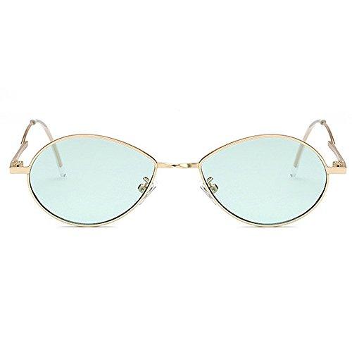 protection conduite ovale les femmes UV de les hommes de de dame pour soleil unisexe Rétro soleil de lunettes Lunettes de Rétro lentille personnalité lunettes de et soleil PC ski Vert de lunettes de petite avn47Zwq