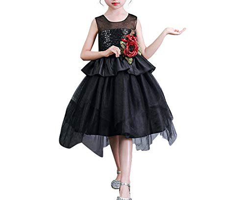 Girl Dress Party Birthday Wedding Princess Toddler Baby Girls Christmas Dresses,Black,4T]()
