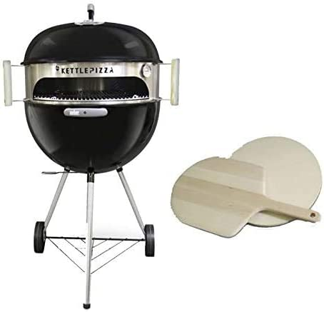 KettlePizza Deluxe Charcoal Pizza Oven Kit for 26.75 Inch Weber Kettle Grill