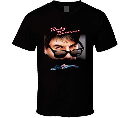 Risky Business Retro 80s Movie Fan T Shirt 2XL Black