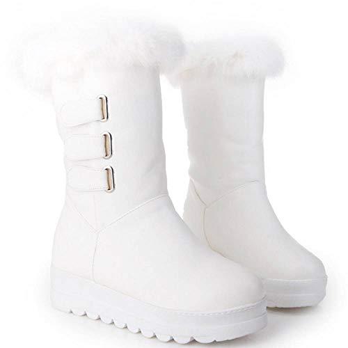 Blanc Bottes Doublé Femmes Antidérapant Chaussures De Neige Hiver TqxHwPP