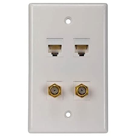 amazon com rca cat 5 6 f connector wall plate tph557r home amazon com rca cat 5 6 f connector wall plate tph557r home audio theater