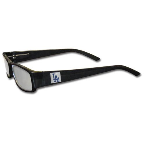 MLB Black Reading Glasses, +1.25, Los Angeles - Dodgers Sunglasses