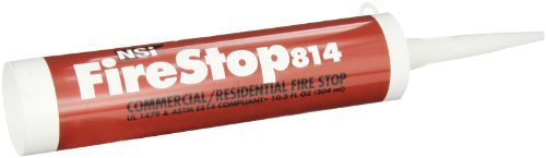 Firestop814 Residential and Non-Intumescent Commercial Fire Stop, 10.3 oz Caulk Tube, Red by - Ounce 10.3 Tube