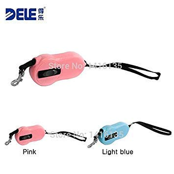 1Pc Light bluee, S   Mini and Unique pet Products Dog Products Retractable pet Dog Leash Dog Lead 2M Pink