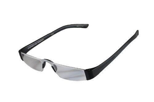 Porsche Design +1.50 Lightweight Reading Tool Model P'8801 ~ Titan/Black Color Frame with Anti-Reflection coated lenses - Can be folded extremely flat to fit into breast pocket. +1.50 Dioptre Lenses