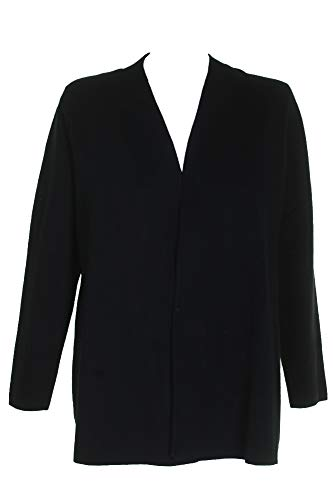 Charter Club Deep Black Open-Front Long Sleeve Cardigan M ()