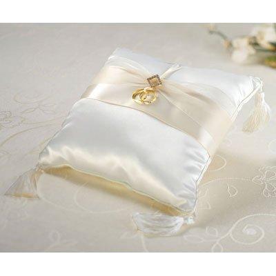 Satin and Diamonds Ring Pillow (Ring Diamond Pillow)