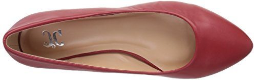 Brinley Co Womens Balletto Wilda Rosso Piatto