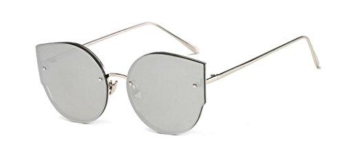 marea gafas sol Mails mercury LSHGYJ Silver de frame de GLSYJ metal de sol Ojos moda gato sol de de gafas gafas white SnZ71n0B