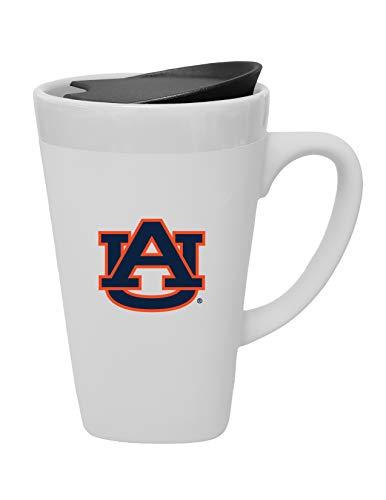 The Fanatic Group Auburn University Ceramic Mug with Swivel Lid, Design 2 - White