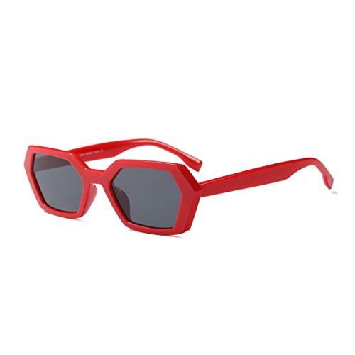 de Gris Vintage Polígono Huicai Green Gafas Square sol de Gafas Summer Rojo Fashion Frame Leopard de sol Goggle Mujeres UV400 Iwqf7qHYx
