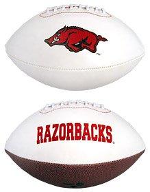 NCAA Signature Series College-Size Football Arkansas Razorbacks Embroidered Leather