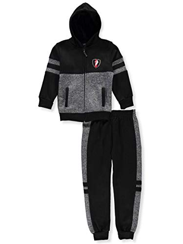 Alura Quad Seven Big Boys' 2-Piece Sweatsuit Pants Set - Gray Multi, 8-10