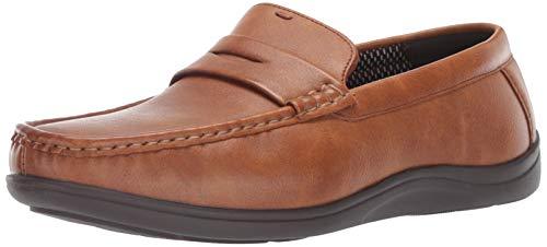 - Nunn Bush Men's Brentwood Penny Loafer Slip-On, Cognac, 14