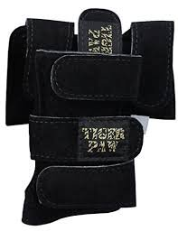 Tiger Paws Gymnastics Black Wrist Wraps | Adjustable Wrist Support | Wrist Injury Prevention (small (69 lbs-115 lbs))