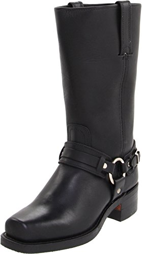 FRYE Men's Belted Harness 12R Boot Square Toe Black 7 D(M) US