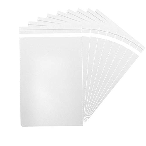 MoloTAR || 200 Pcs 5'' x 7'' Clear Resealable Cello/Cellophane Good for Bakery,Adhesive Treat, Candle, Soap, Cookie Poly -