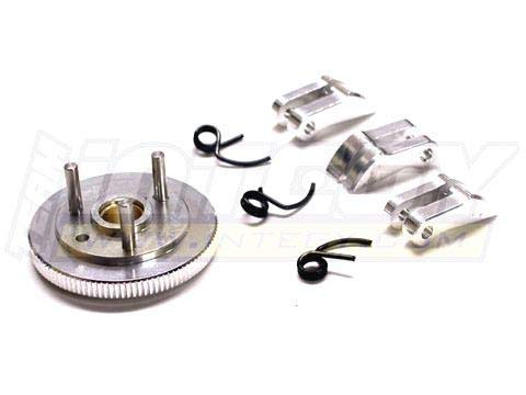 (Integy RC Model Hop-ups T7041SILVER 7075 Type 3-Piece Clutch+Flywheel for HPI Savage-X, 21 & 25)