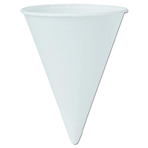Solo 4BR-J8614 4 oz Bare Paper Cone Cups (Case of 5000)