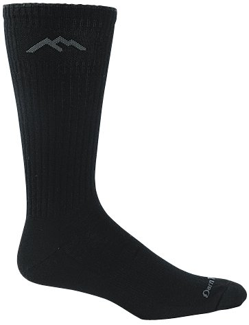 Darn Tough Standard Issue Mid Calf Light Sock,  Black,  Medium (8-9.5)