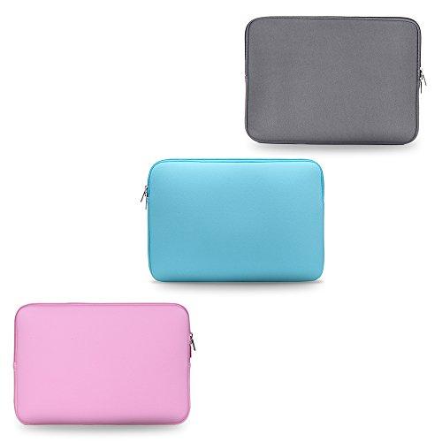 KKmoonReißverschluss Weiche Hülsen-Tasche Fall für MacBook Air Ultrabook Laptop Notebook 11-Zoll 11 11,6 tragbar Hell-Pink