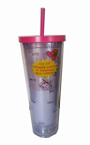 Starbucks Venti Personalize Your Cup 2017 Cold Cup Tumbler 24Oz Pink With Stickers by  (Image #1)