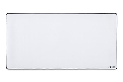 (Glorious XXL Extended Gaming Mouse Mat/Pad - Large, Wide (XLarge) White Cloth Mousepad, Stitched Edges | 36x18 (GW-XXL))
