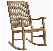 Amazon.com : Teak Rocking Chair Outdoor or indoor : Lawn Chairs ...
