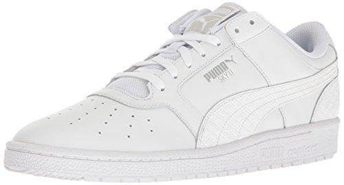 八焦げ実施するPUMA Mens sky ll lo b&w Low Top Lace Up Leather Basketball Shoes