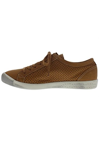 Softinos Damen Ica388sof Sneakers Liscio Cammello