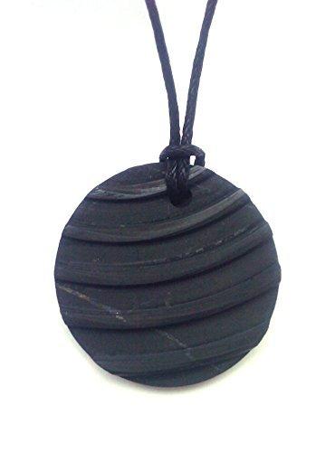Karelia Shungite Pendant. EMF Protection Stone. Genuine Shungite and Highest Quality Guarantee.