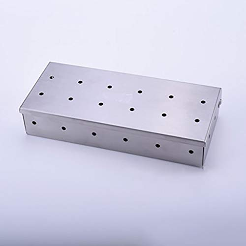 ❤Lemoning❤ Outdoor BBQ Products Stainless Steel Smoker Box BBQ Stainless Steel Smoke - Plate Block Memorial