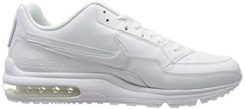 Nike Mens Air Max Ltd 3 Sneaker, White White White, 44.5 EU 6