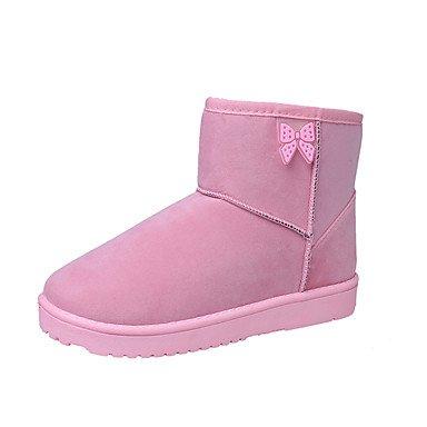 pink Blu Casual Rosa Comoda Inverno donna Da blushing Piatto amp;xuezi GLL Piatto Nero Grigio Tessuto Stivaletti wAZPPq