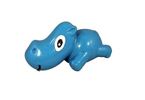 Cycle Dog 3-Play Hippo Dog Toy with Ecolast Recycled Material, Mini, bluee by Cycle Dog