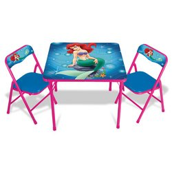 Amazon.com: Little Mermaid Activity Table and Chairs Set: Toys & Games