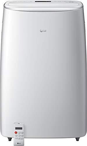 LG 115V Dual Inverter Technology Portable Air Conditioner, White
