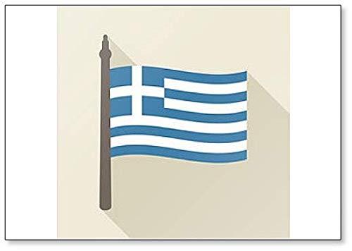Greek Flag - Classic Fridge Magnet (Greek Flag Magnet)