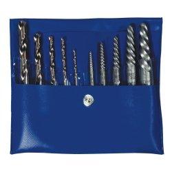 Irwin 11118 Hanson Straight Flute Extractor & Cobalt Drill Bit Set in Vinyl Pouch - - Flute Straight Hanson
