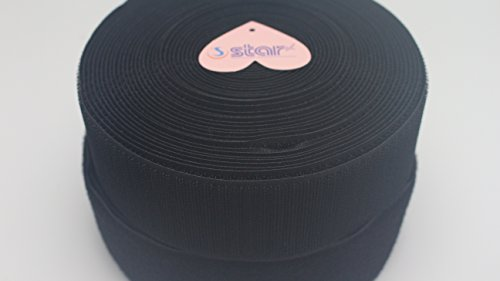 Sea Star 2 Inches Black Sew on Hook and Loop Sew On Fasteners(2 inch, 10 Yards) by SeaStar