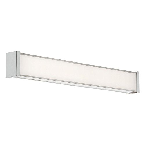 WAC Lighting WS-7322-30-BN DweLED Svelte 22in LED Bathroom Vanity & Wall 3000K in Brushed Nickel Light Fixture, 22 Inches,