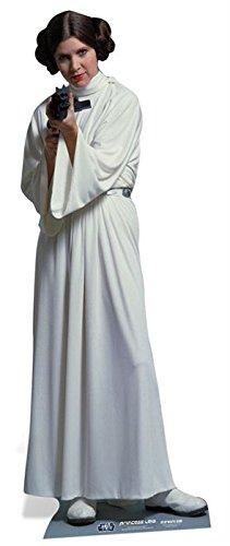 idealWigsNet Recorte de cartón de tamaño Real Princesa Leia de ...