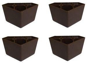 Profurnitureparts 1 75 Tall Triangle Corner Sofa Legs Brown Color Set Of 4 Hdpe Plastic
